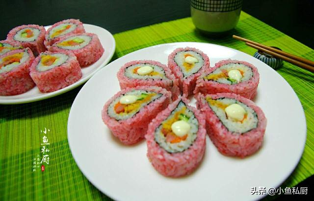 終於找到櫻花壽司的做法了。沒想到這麼簡單。看一遍就學會了 - 每日頭條