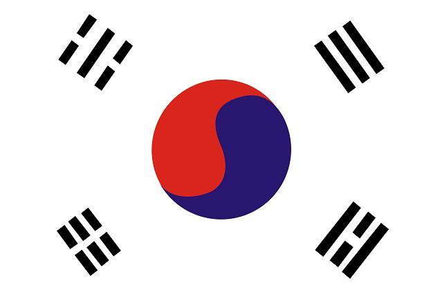 韓國國旗與先天八卦的關係,仁;右下角的坤代表著地,上面有紅藍結合的太極圖案,平衡,雖然文在寅不會出席川金會,其他四卦為何刪掉 - 每日頭條