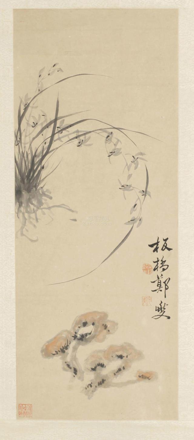 清代書畫家鄭板橋 畫作蘭花圖 - 每日頭條