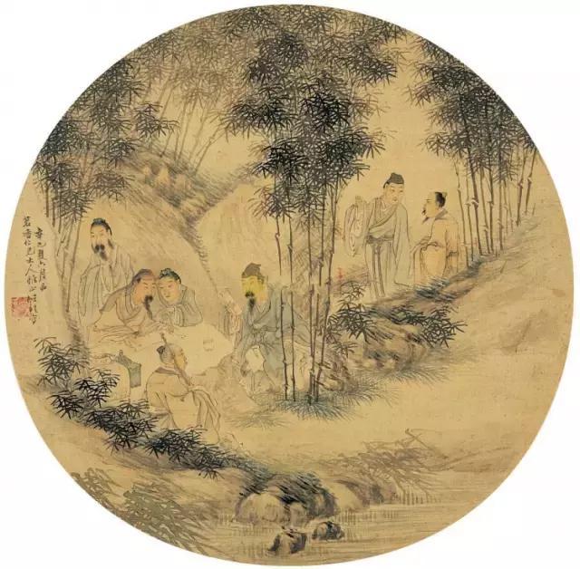 中國歷代名家與《竹林七賢圖》 - 每日頭條
