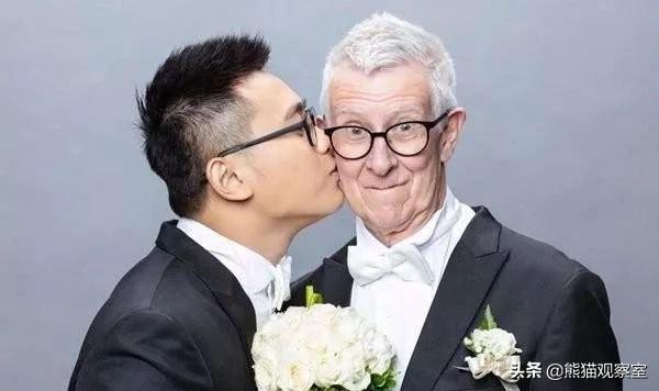 年齡相差半個世紀——24歲臺灣帥小伙與71歲英國男友舉行婚禮 - 每日頭條