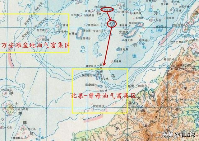 南沙群島的北康暗沙遍布油氣井偷采嚴重。吃相難看急需吹填南屏礁 - 每日頭條