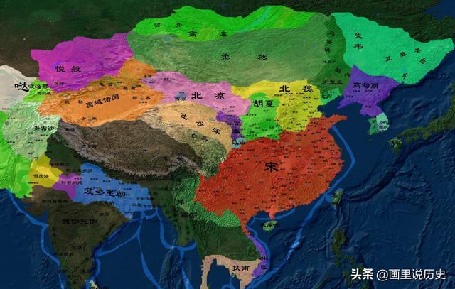 東晉十六國,南北朝,看似複雜的歷史只要看一遍就能理清楚 - 每日頭條