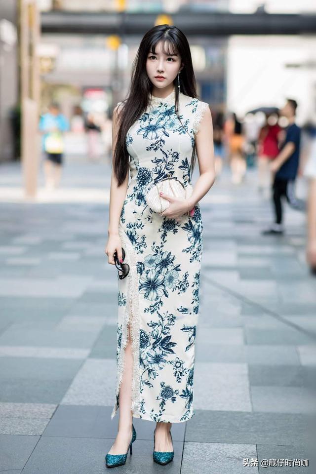 「旗袍」怎樣穿有魅力?建議學學這3大穿衣技巧。穿出不一樣的美 - 每日頭條