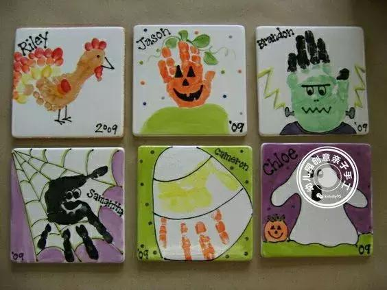 幼兒園創意美術:萬聖節掌印畫指南,小班必備的入門級塗鴉! - 每日頭條