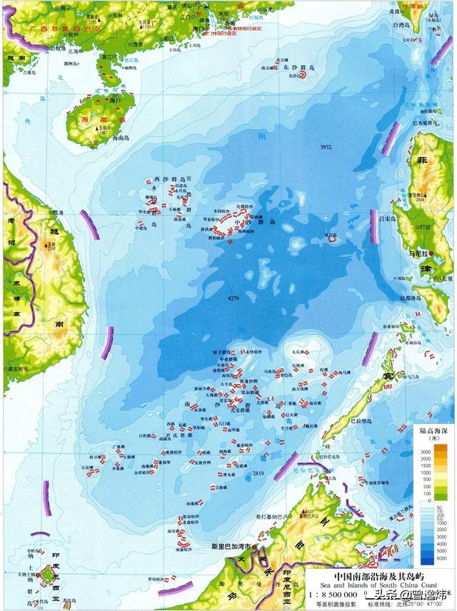 南沙群島萬安灘和曾母暗沙比較。萬安灘地理位置最好。便於把控 - 每日頭條