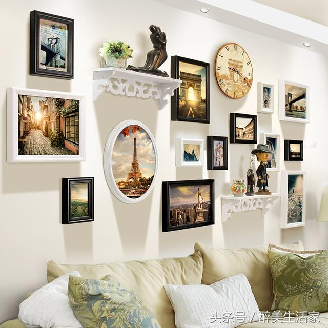 如何做出好看的照片牆?照片牆創意組合方法 - 每日頭條