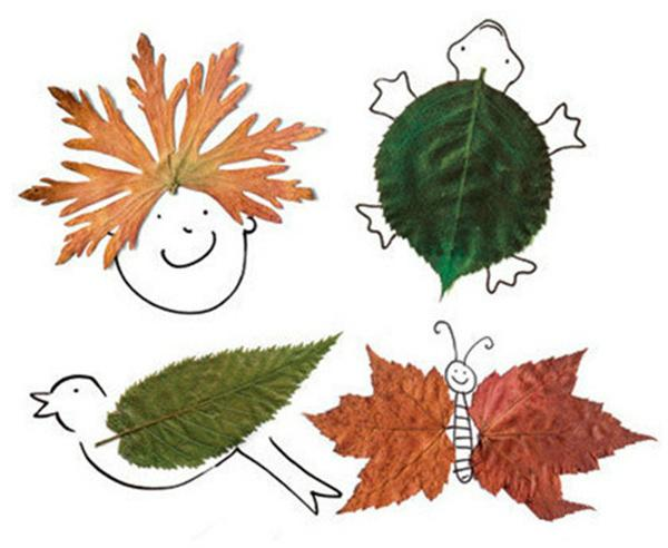 如此有趣的樹葉畫。你肯定沒見過! - 每日頭條