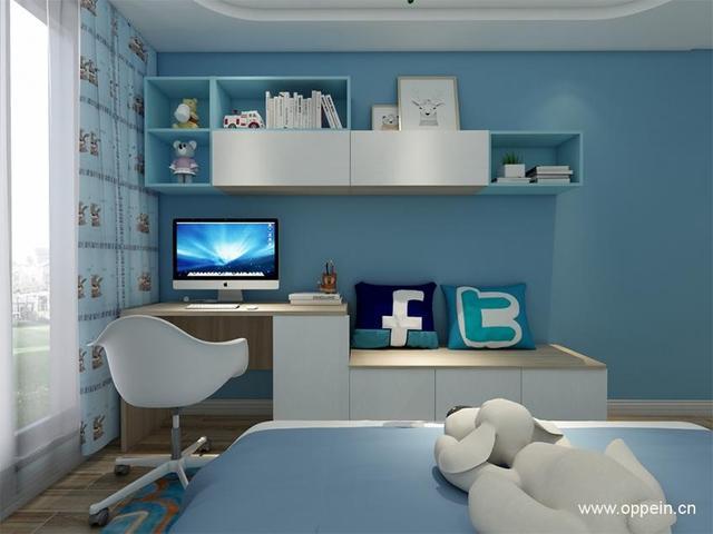 兒童臥室吊櫃裝修效果圖案例 - 每日頭條
