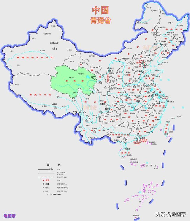 四幅青海省最新地圖 - 每日頭條