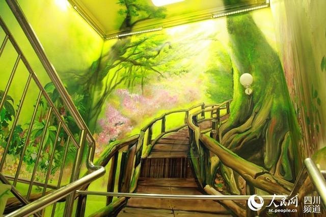 成都一醫院繪製3D牆畫 走廊變成五彩繽紛的世界 - 每日頭條