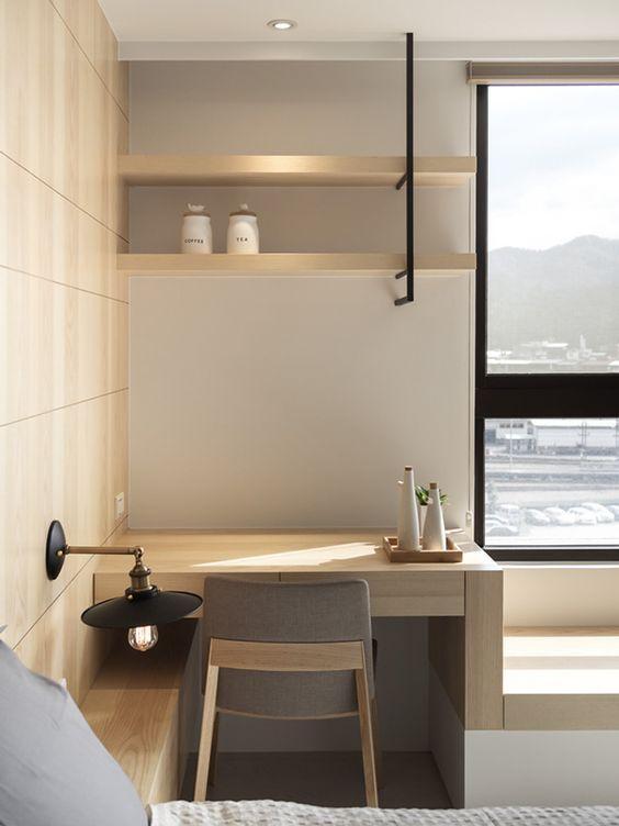 家庭書桌設計的好,不僅實用性很強,而且顏值還很高 - 每日頭條