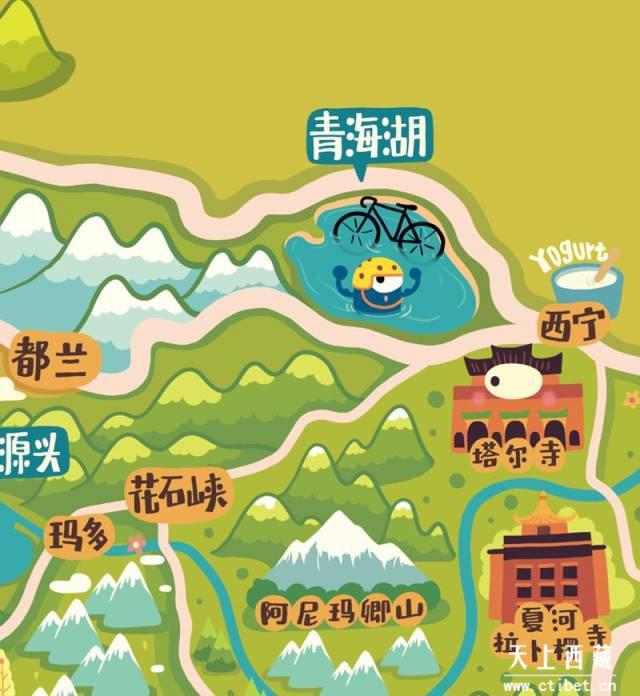 史上最萌最Q最實用的西藏旅遊地圖。沒有之一 - 每日頭條