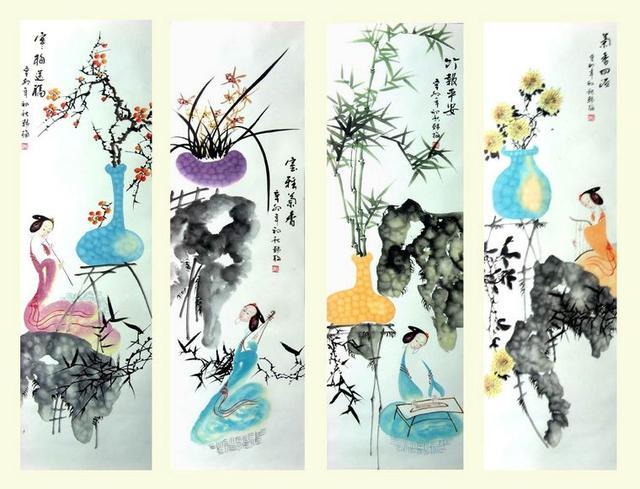 你怎麼看 家居梅蘭竹菊畫 - 每日頭條