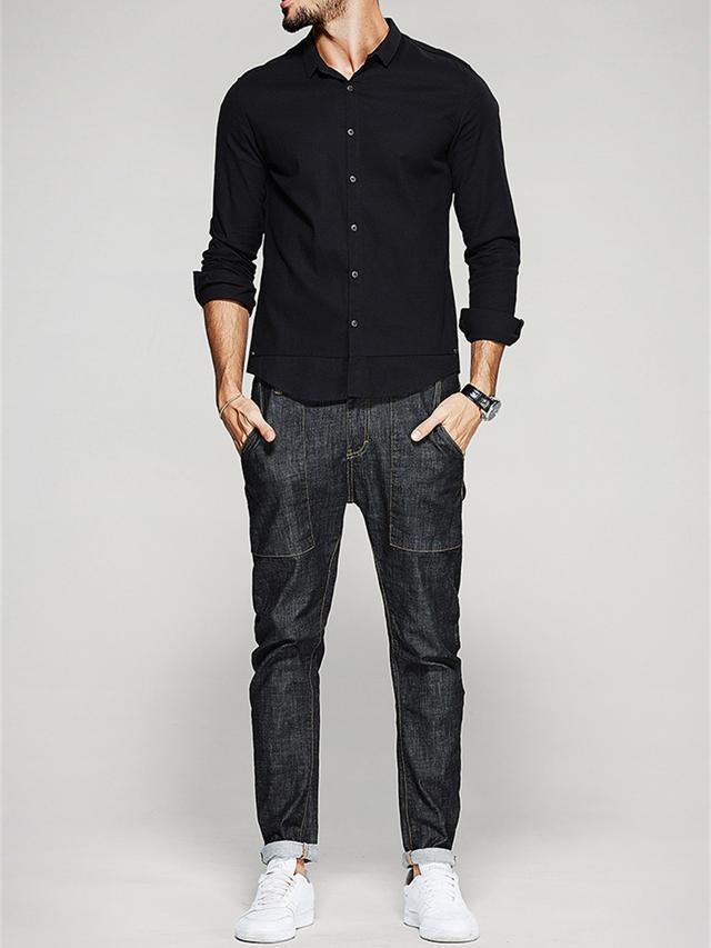 穿搭|7款型男潮搭,教你黑襯衫這麼穿超有型 - 每日頭條