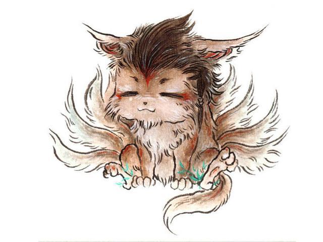 Q版山海經異獸圖鑑欣賞,食者不蠱。 譯文: 山裡有一種動物,它發出的聲音就像是嬰兒的啼哭聲,非常可愛 - 每日頭條