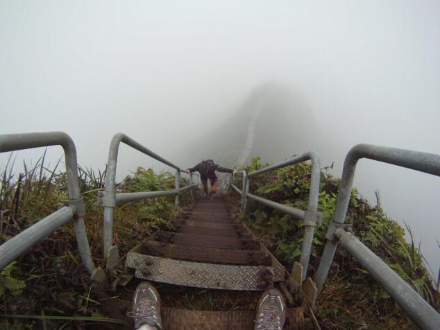 連接地面和雲層的階梯:歐胡島九十度天梯 - 每日頭條
