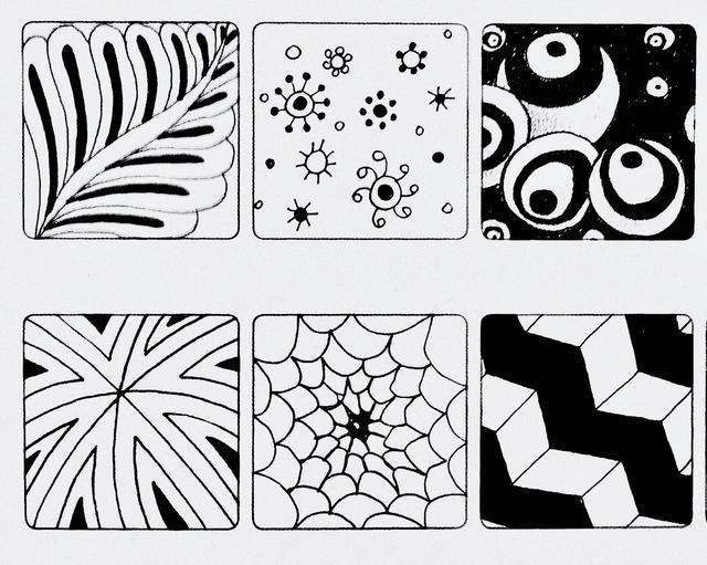 簡單就是終極的複雜——禪繞畫 基本圖樣(七) - 每日頭條