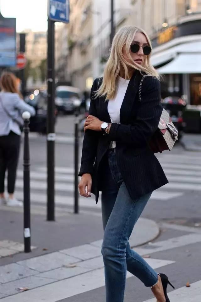 西裝+牛仔褲,帥氣又美的不要不要的! - 每日頭條