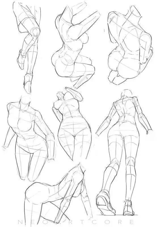 初學者如何練習畫人體? - 每日頭條