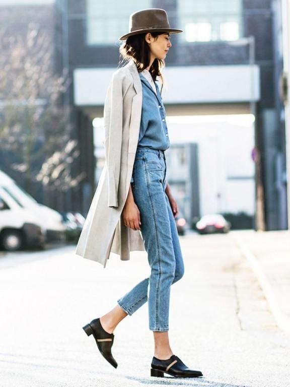 跟國外女人學牛仔褲的時髦穿搭法。真的很漂亮! - 每日頭條