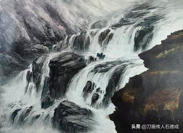 繪畫教程70—山澗瀑布這樣畫。6步到位。一看就會 - 每日頭條