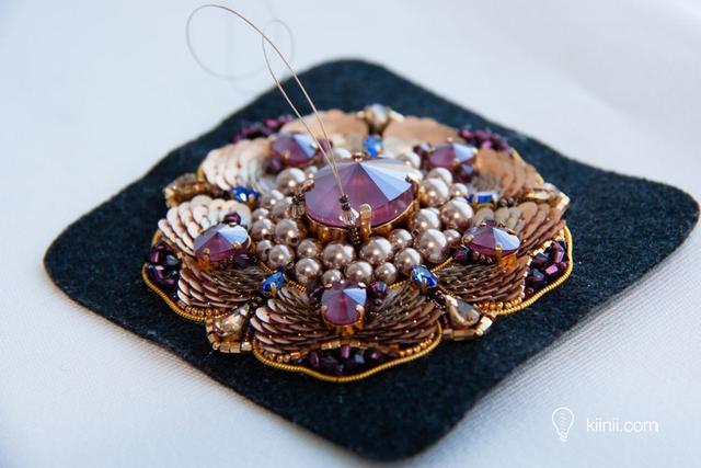奢華珠繡胸針分步製作指南 - 每日頭條
