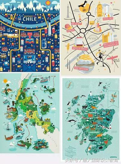 這些超酷的插畫地圖設計。風格和配色都值得學習! - 每日頭條