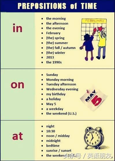 一張圖告訴你時間介詞的用法 - 每日頭條