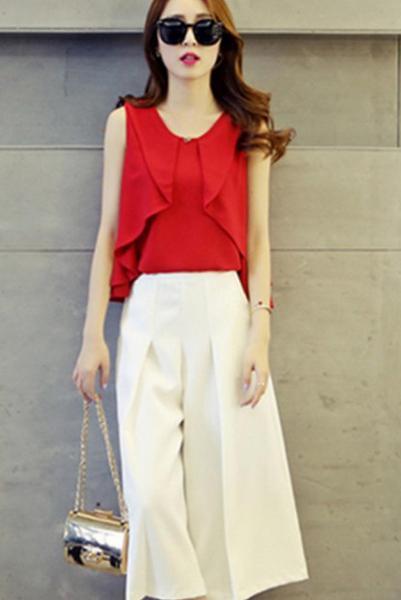 紅色上衣配什麼顏色的褲子 - 每日頭條
