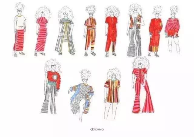 設計手稿100例 倫敦時裝學院學生手稿…… - 每日頭條