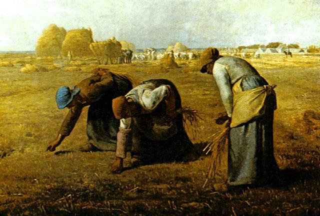 西方著名油畫欣賞:米勒《拾穗者》 - 每日頭條