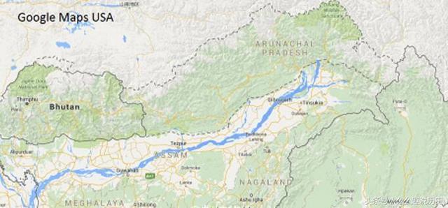 9萬平方公里的領土爭議,中印美三國谷歌地圖各不相同,漲見識了 - 每日頭條