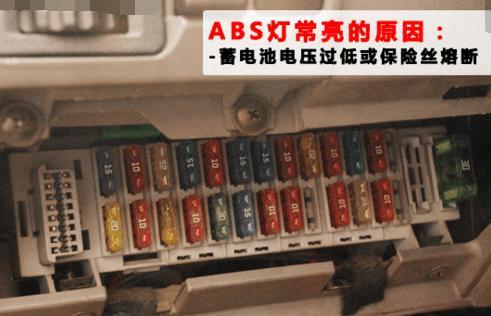 汽車ABS警告燈點亮故障分類排除 - 每日頭條
