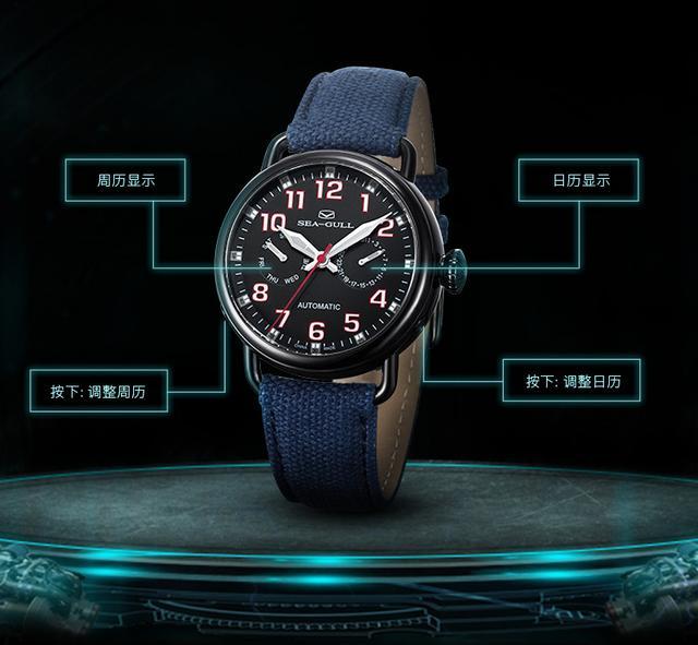 海鷗(SeaGull)多功能系列自動機械男士腕錶賞析 - 每日頭條