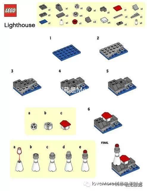 DIY樂高說明書?!讓娃一看就懂的LEGO直觀實用的拼搭圖紙 - 每日頭條