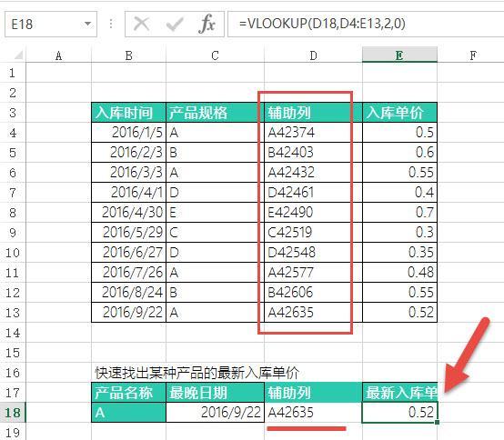 Excel技巧:如何快速匹配某產品的最新入庫單價? - 每日頭條