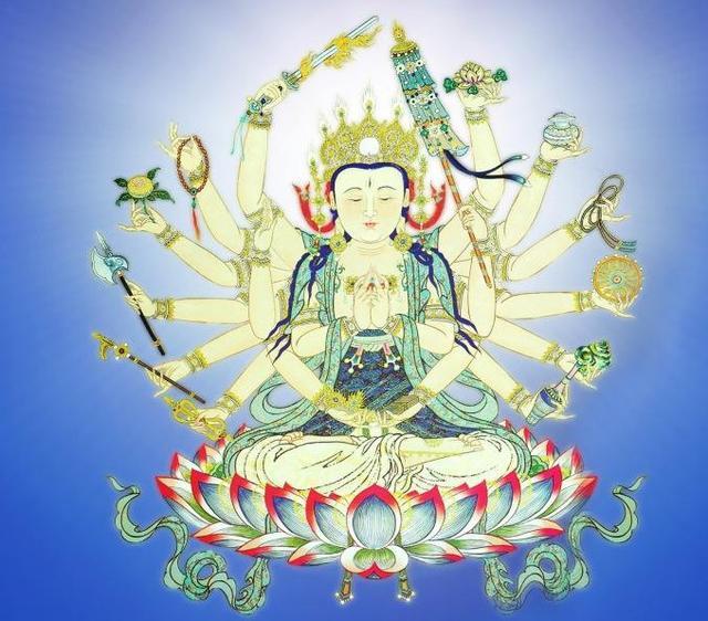 佛緣知識:準提佛母的18臂拿的是什麼法器,又有何象徵意義? - 每日頭條