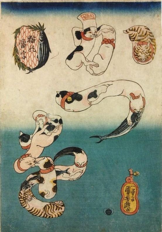 浮世繪大師歌川國芳筆下的貓 - 每日頭條