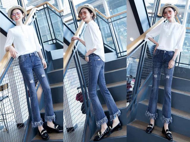 2018年最流行的5條牛仔喇叭褲。讓你又瘦又高! - 每日頭條