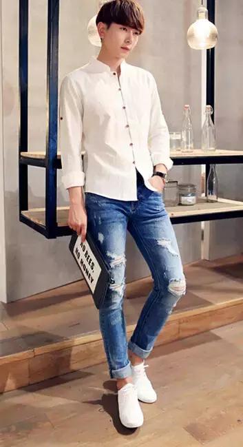 男士白襯衫怎麼搭配褲子最顯帥氣 - 每日頭條