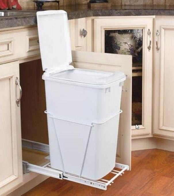 kitchen trash bin delta faucets 这些厨房垃圾桶不光有创意 而且实用 每日头条