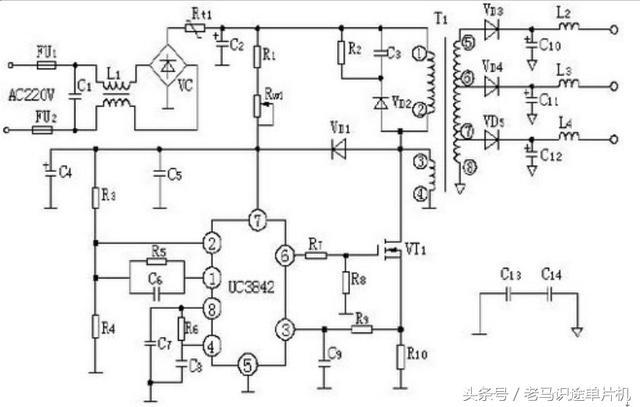 UC3842 組成的開關電源電路 - 每日頭條
