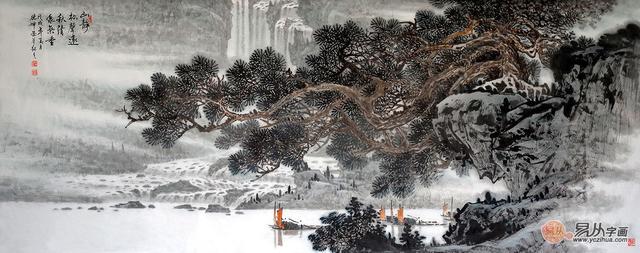 當代山水畫家林德坤原創真跡欣賞。這是畫境。亦是人生! - 每日頭條