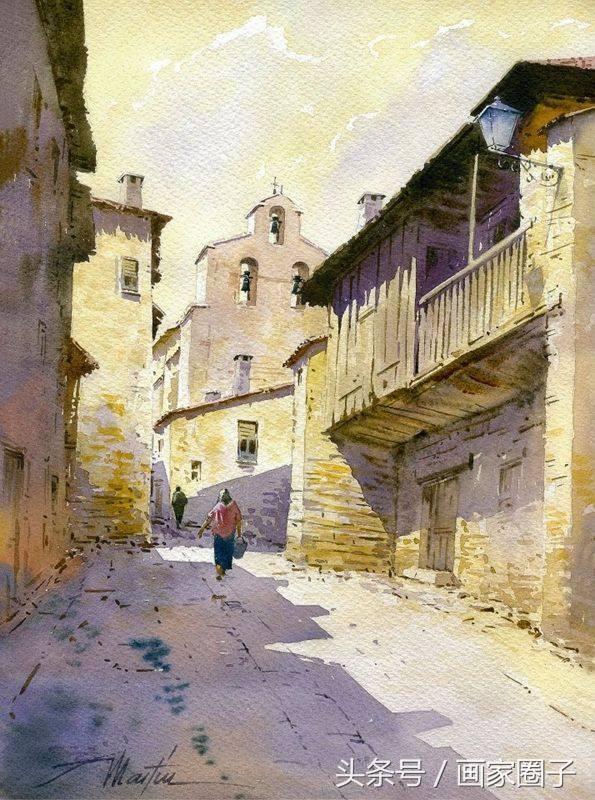 西班牙畫家的水彩風景畫,畫的太美了! - 每日頭條
