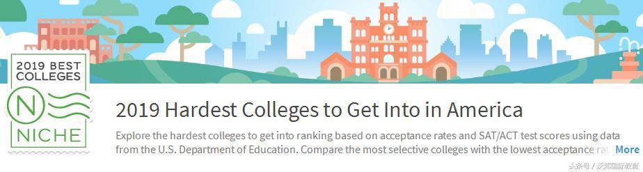 2019美國大學錄取難度排名(附SAT/ACT成績)。看完笑容逐漸消失 - 每日頭條