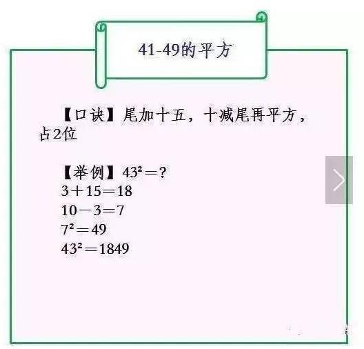 小學數學:最簡單快速的平方計算。讓孩子的計算又快又準不出錯! - 每日頭條