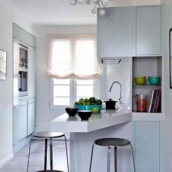 Small Kitchen Bar Prep Sink 开放式厨房 吧台式餐桌 是不是很有情调 每日头条 喏 在操作台一边延伸出来的吧台式小餐桌