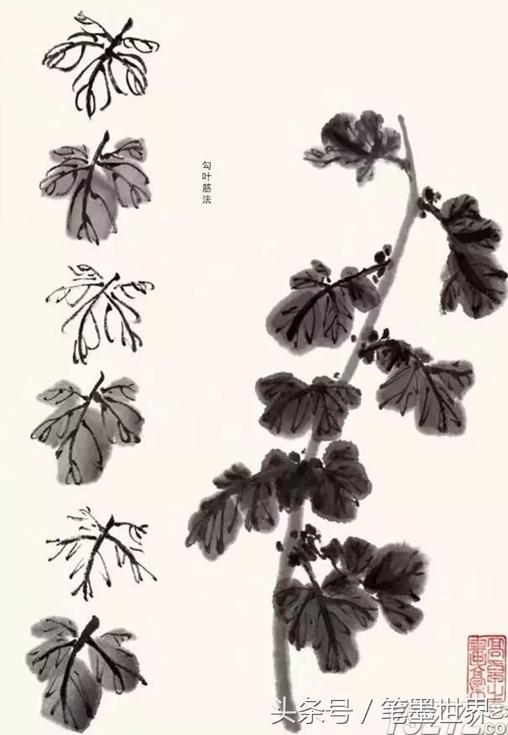 國畫入門:菊花葉子的畫法 - 每日頭條