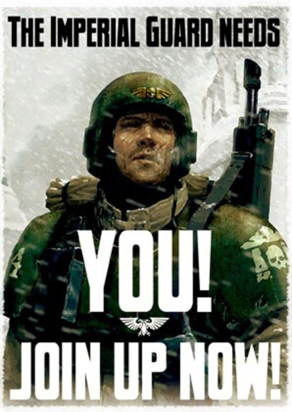 Imperial Guard Poster Warhammer 40 000 Know Your Meme